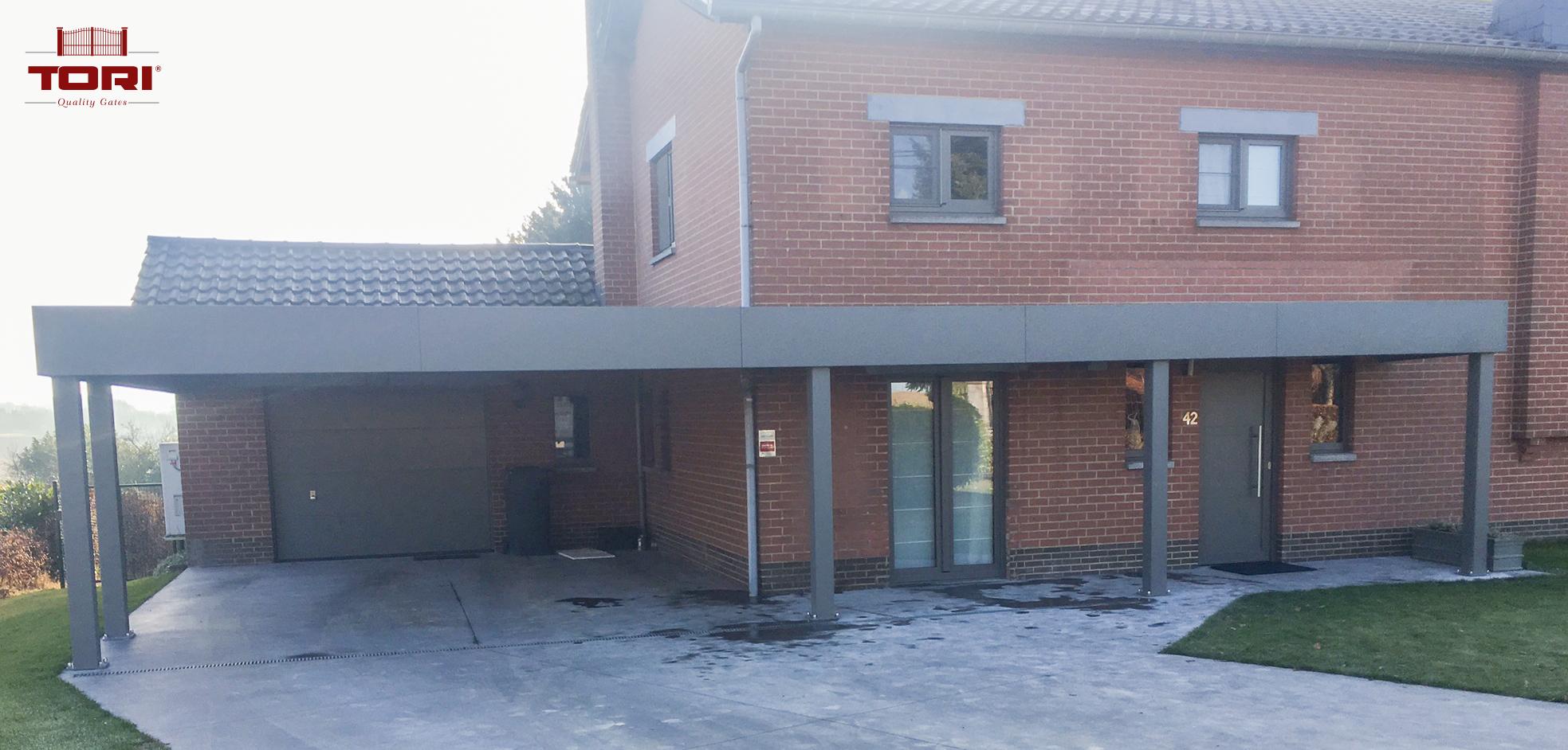 Carport aluminium horizon tori portails - Carport aluminium belgique ...